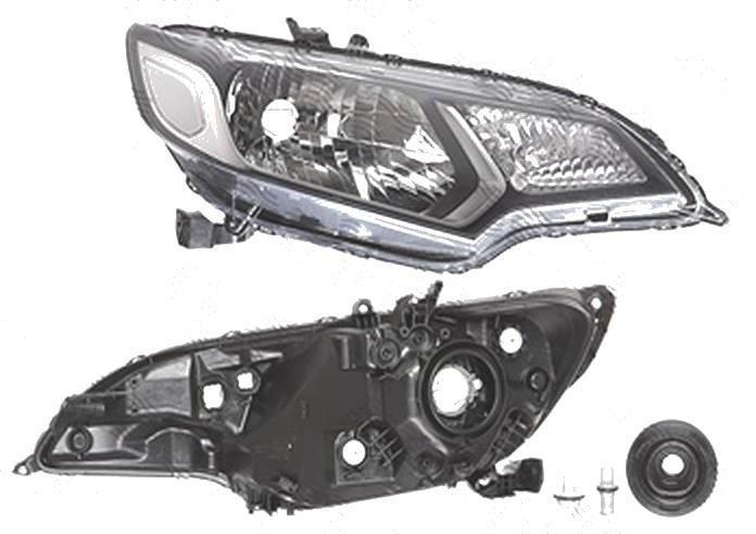 Far Honda Jazz/Fit, 09.2015-, fata, Dreapta, H4+W5W+WY21W; electric; fara motoras, DEPO