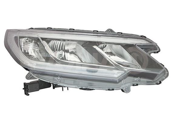 Far Honda Crv (Rm), 01.2015-, fata, Dreapta, cu LED daytime running light; H11+HB3+LED+WY21W; electric; cu motor;