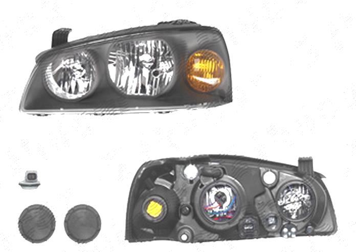 Far Hyundai Elantra (Xd), 01.2004-09.2006, fata, Stanga, H1+H7; electric; fara motoras, DEPO