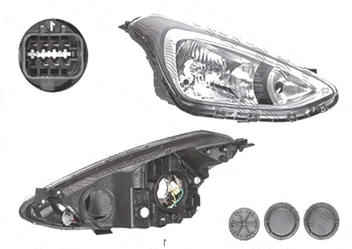 Far Hyundai I10 (Ba), 01.2014-, fata, Dreapta, H4+PY21W+W5W; electric; fara motoras, DEPO