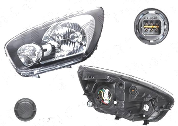 Far Kia Picanto (Ta), 06.2011-, fata, Stanga, H4+PY21W+W5W; electric; fara motoras, DEPO