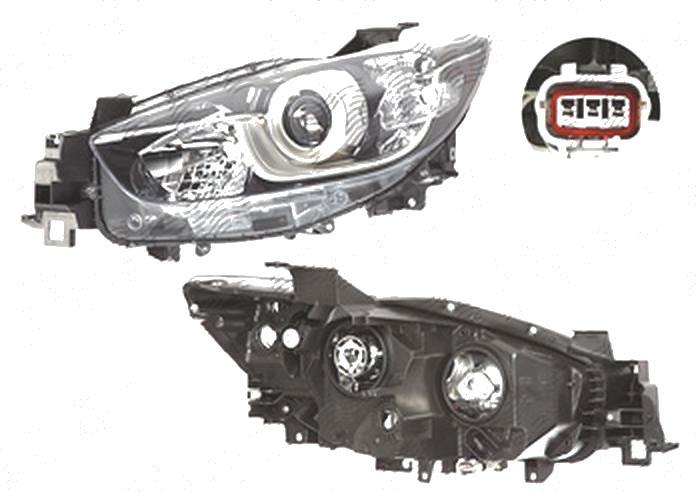 Far Mazda Cx-5 (Ke), 03.2012-, fata, Stanga, versiune europeana, cu daytime running light; H11+H15+PY21W+W5W; electric; fara motoras, TYC