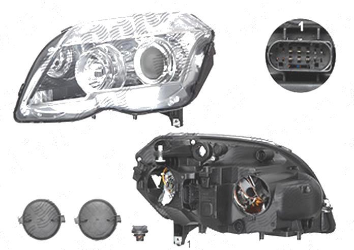Far Mercedes Clasa Glk (X204), 10.2008-05.2012, fata, Stanga, H7+H7+PY21W+W5W+WY5W; electric; cu motor, DEPO