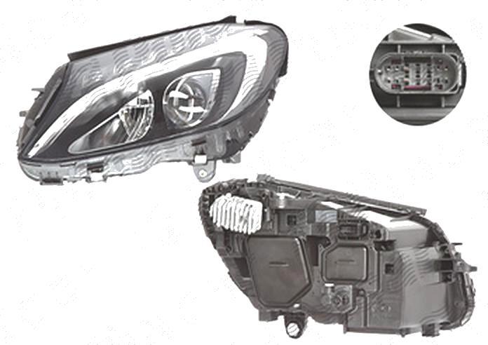 Far Mercedes Clasa C (W205), 01.2014-, fata, Stanga, LED; electric; fara LED controlling unit, AL (Automotive Lighting)
