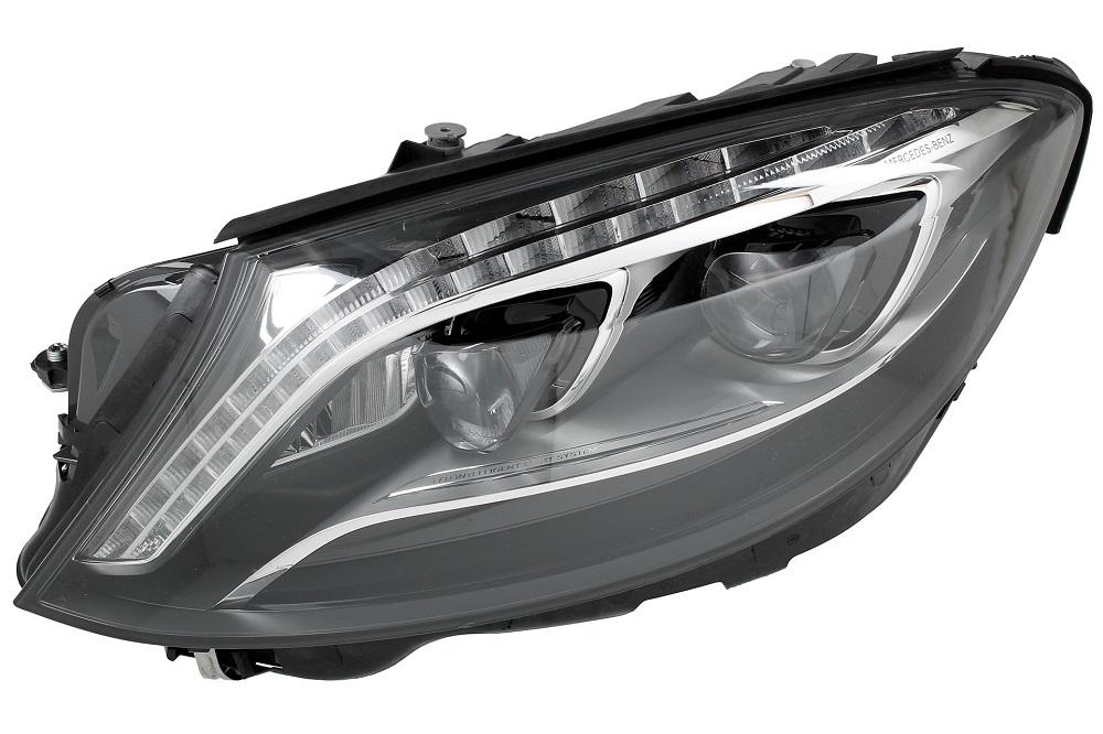 Far Mercedes Clasa S (W222), 08.2013-, fata, Stanga, cu lumini pentru curbe; LED; electric; fara motoras; fara levelling control unit;