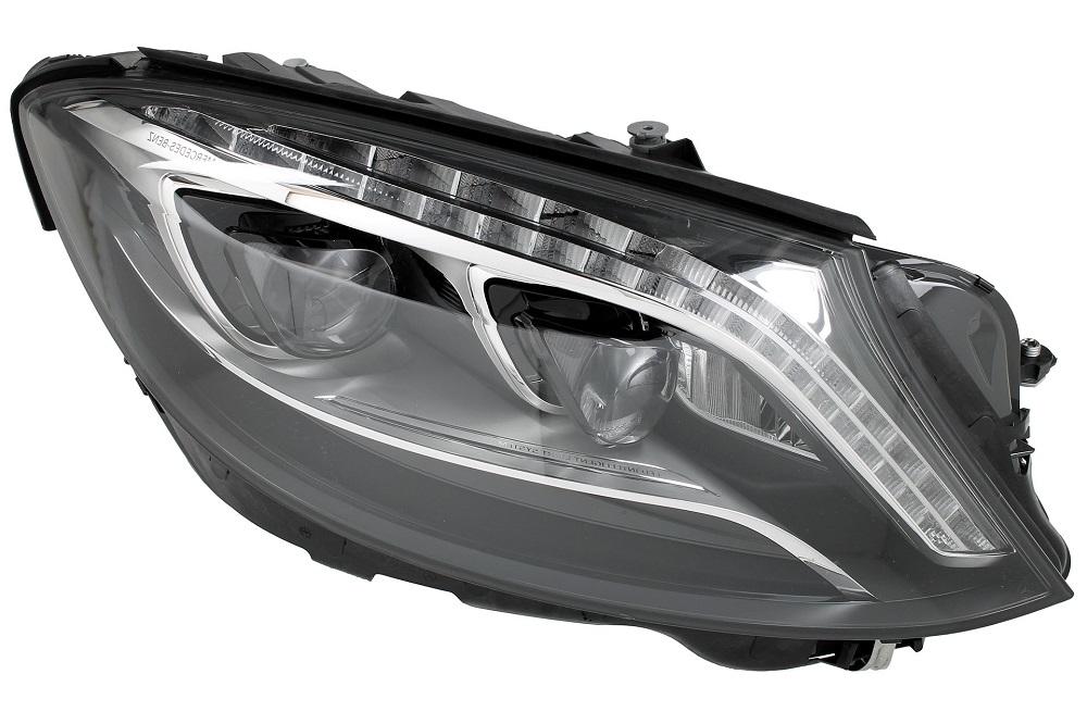 Far Mercedes Clasa S (W222), 08.2013-, fata, Dreapta, cu lumini pentru curbe; LED; electric; fara motoras; fara levelling control unit;