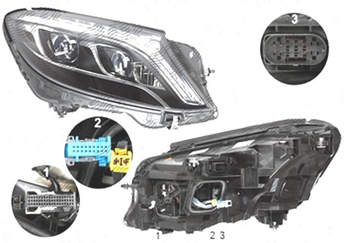 Far Mercedes Clasa S (W222), 08.2013-, fata, Dreapta, cu lumini pentru curbe; cu infrared system; LED; electric; fara motoras; fara levelling control unit;