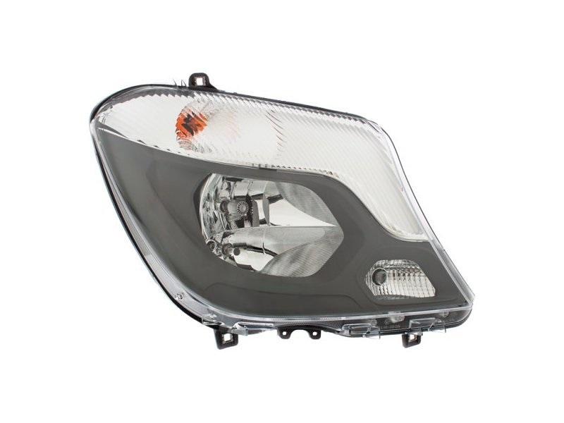 Far Mercedes Sprinter 210-519, 10.2013-, fata, Dreapta, cu lumini pentru curbe; cu daytime running light; H7+H7+H7+PY21W+W21W+W5W; electric; cu motor;