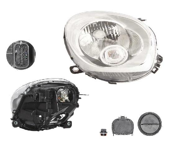 Far Mini Paceman (R61), 03.2013-; Countryman (R60), 08.2010-, fata, Dreapta, H4+P21W; electric; semnalizare alba; cu motor, DEPO
