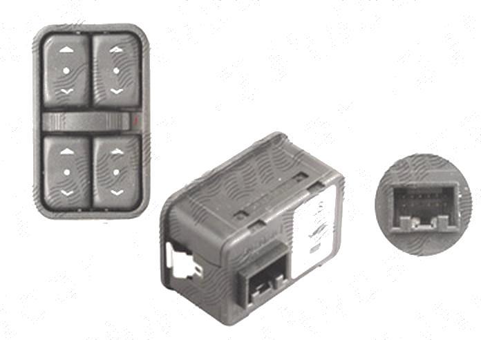 Buton , comutator macara usa Opel Astra G, 01.1998-08.2009; Zafira, 01.1999-05.2005, 4 butoane; 12 pini
