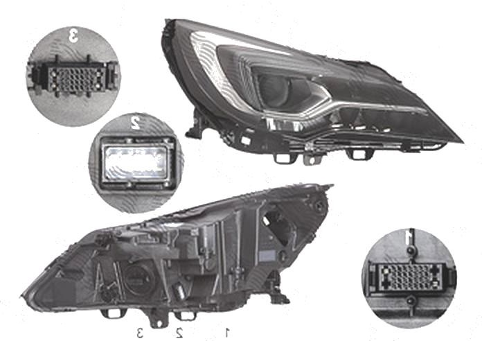 Far Opel Astra K, 10.2015-, fata, Dreapta, IntelliLux; LED; electric; fara LED controlling unit; cu motor, ZKW
