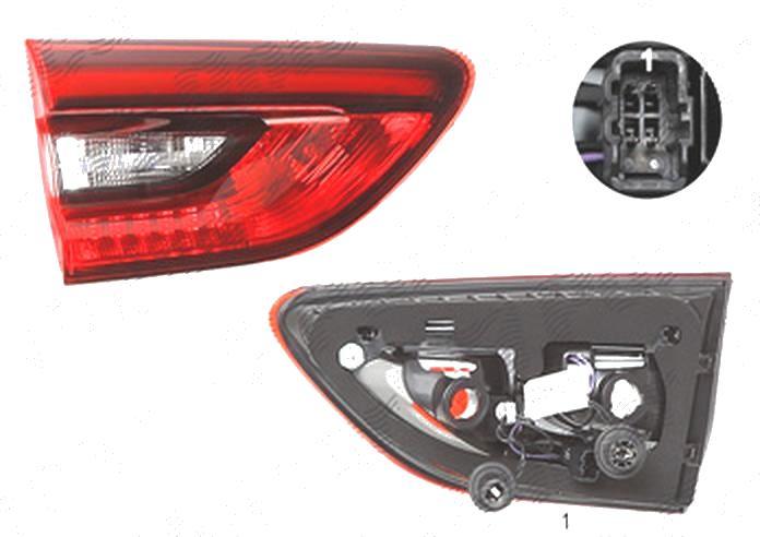 Stop spate lampa Opel Insignia, 03.2017-, spate, Stanga, Country Tourer, doar tip halogen, Sports Tourer, partea interioara; H21W+LED+W16W; cu suport becuri, AL (Automotive Lighting)
