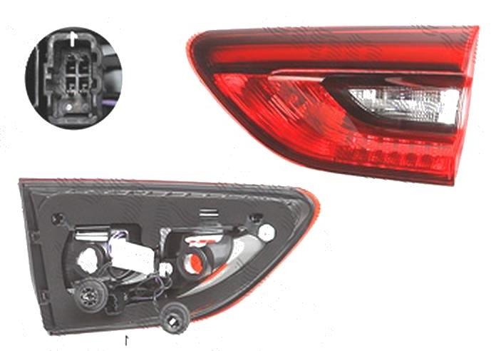 Stop spate lampa Opel Insignia, 03.2017-, spate, Dreapta, Country Tourer, doar tip halogen, Sports Tourer, partea interioara; LED+W16W; cu suport becuri, AL (Automotive Lighting)