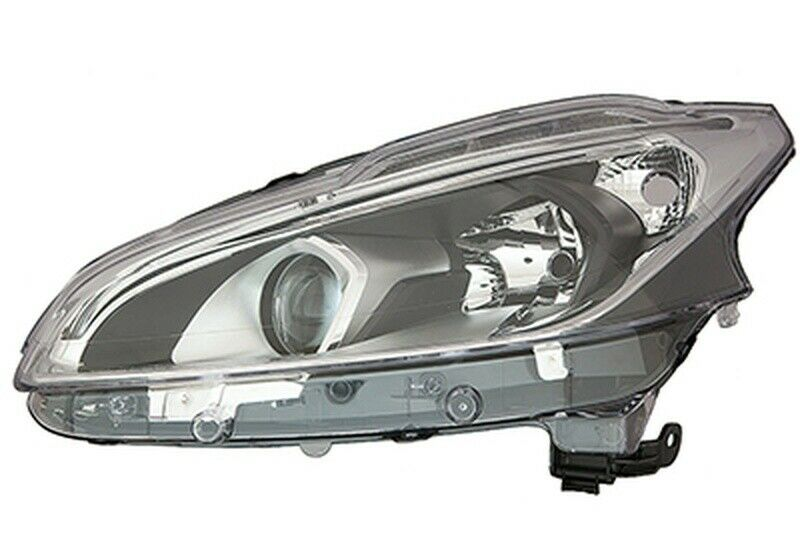Far Peugeot 208, 06.2015-, fata, Stanga, cu LED daytime running light; H7+H7+LED+PY21W; electric; fara motoras;