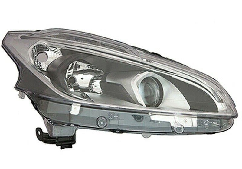 Far Peugeot 208, 06.2015-, fata, Dreapta, cu LED daytime running light; H7+H7+LED+PY21W; electric; fara motoras;