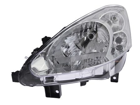 Far Peugeot Partner, 06.2012-04.2015, fata, Stanga, H4; electric; cu motor, DEPO