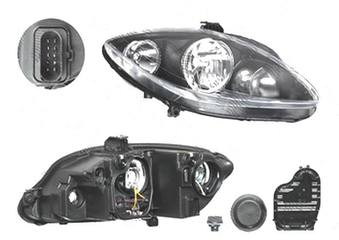 Far Seat Toledo (5p2), 10.2004-03.2009; Leon (1p1), 06.2005-03.2009; Altea (5p1/5p5), 03.2004-03.2009, fata, Dreapta, H1+H7+PY21W+W5W; electric; cu motor, TYC