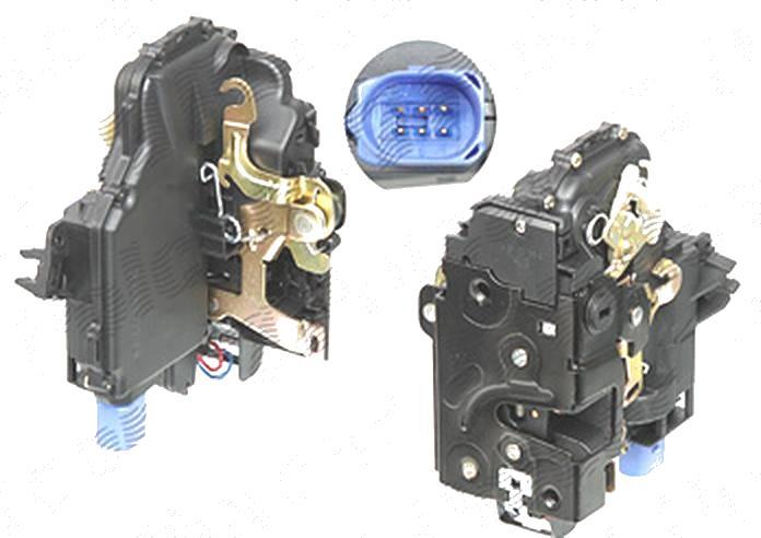 Broasca usa, incuietoare Skoda Fabia (6y), 04.2000-03.2007, Seat Ibiza/Cordoba (6l), 2002-2008; Vw Polo (9n/9n3), 10.2001-08.2009, spate, Stanga