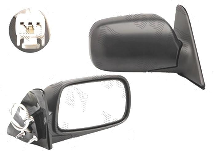 Oglinda exterioara Toyota Corolla (E10), 06.1991-08.1998, Dreapta, Hatchback, Combi, SEDAN, reglare electrica; carcasa neagra; geam convex; cromat; 3 pini