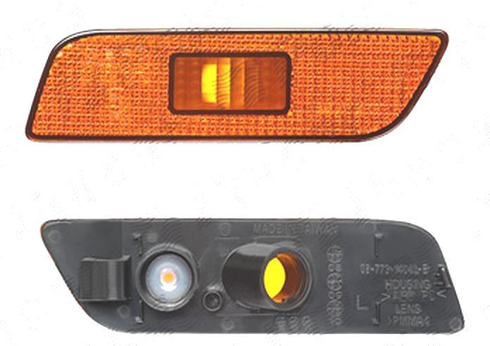 Lampa semnalizare Volvo S80 (Ts/Xt), 05.1998-04.2006, fata, Stanga, W5W; portocaliu; fara suport becuri; omologare: ECE/SAE, DEPO