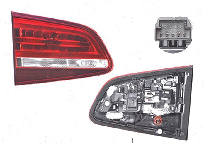 Stop spate lampa Volkswagen Sharan (7n), 05.2015-, spate, Stanga, partea interioara; cu lampa ceata; LED+PY21W+W16W; cu suport becuri, AL (Automotive Lighting)