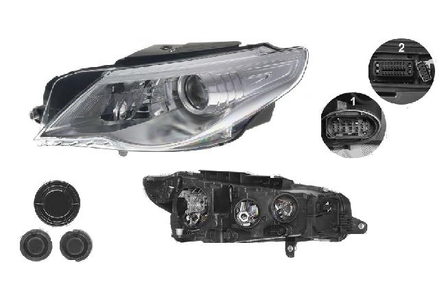 Far Volkswagen Passat Cc (357), 06.2008-02.2012, fata, Stanga, bi-xenon; cu lumini de curbe; D1S+H7+P21W+W5W; electric; fara unitate control; fara ballast; cu motor, DEPO