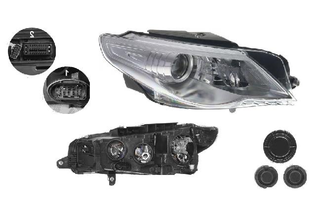 Far Volkswagen Passat Cc (357), 06.2008-02.2012, fata, Dreapta, bi-xenon; cu lumini de curbe; D1S+H7+P21W+W5W; electric; fara unitate control; fara ballast; cu motor, DEPO