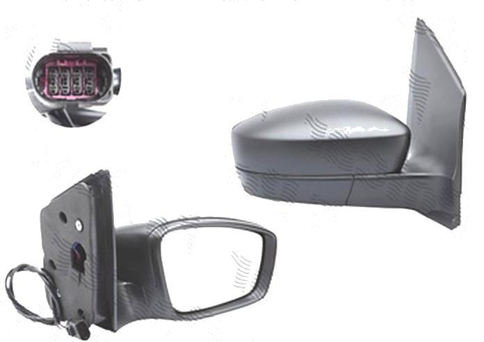 Oglinda exterioara Skoda Citigo, 05.2012-; Citigo, 05.2017- , Seat Mii, 05.2012-, Vw Up! (Vw120), 04.2012-2016, Dreapta, reglare electrica; grunduita; incalzita; geam convex; cromat; 5 pini, View Max