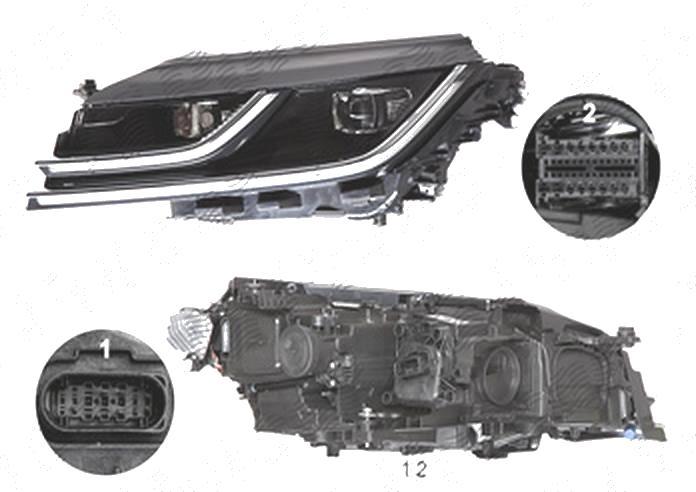 Far Volkswagen Arteon, 06.2017-, fata, Stanga, cu LED daytime running light; LED; electric;