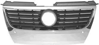 Grila radiator VW Passat (B6 (3C)), 01.2005-07.2010, cu gauri pentru senzori de parcare