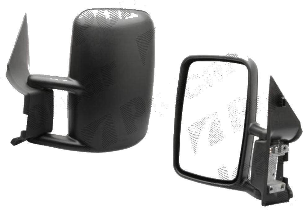 Oglinda exterioara VW LT2 05.1996-12.2005 Partea Stanga Crom Asferica Manuala Fara Incalzire carcasa neagra