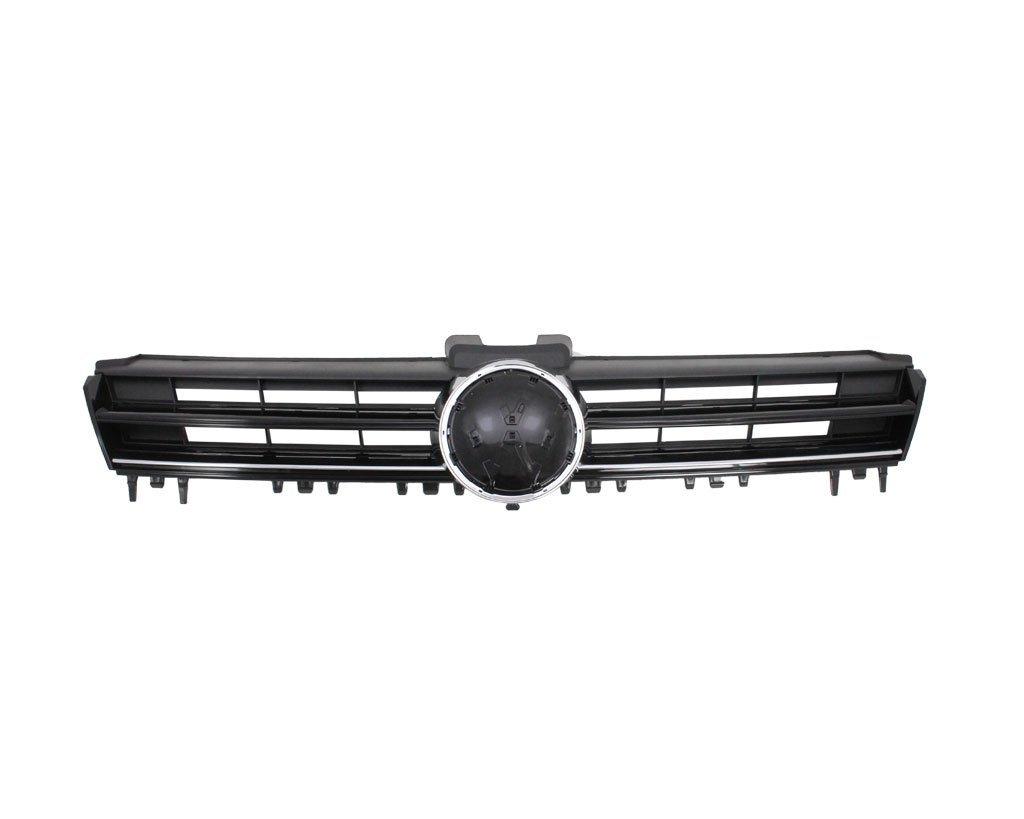 Grila radiator Vw Golf 7 (5k), (Comfortline) 10.2012-, Cu Element Cromat, Negru