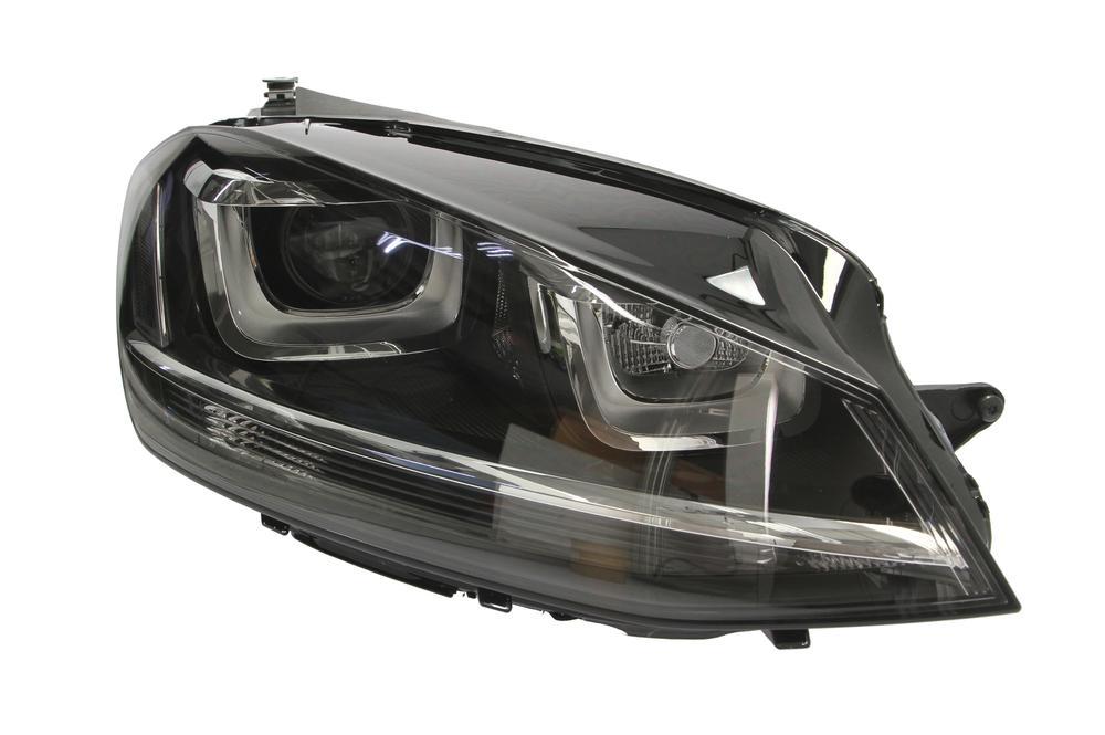 Far VW Golf 7 10.2012- VALEO partea Dreapta daytime running light Bi-xenon pentru bec D3S+H7 fara balast si bec