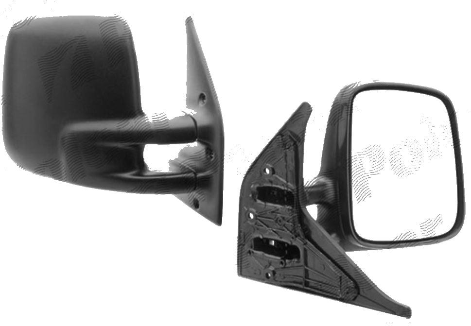 Oglinda exterioara VW Transporter (T4)/Caravelle/Multivan 07.1990-03.2003 Partea Dreapta Crom Convex Manuala Fara Incalzire, carcasa neagra, View Max