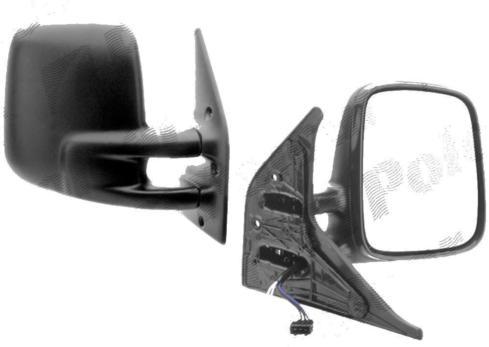Oglinda exterioara VW Transporter (T4)/Caravelle/Multivan 07.1990-03.2003 Partea Dreapta Crom Convex Electrica Cu Incalzire, carcasa neagra, 5 pini, View Max