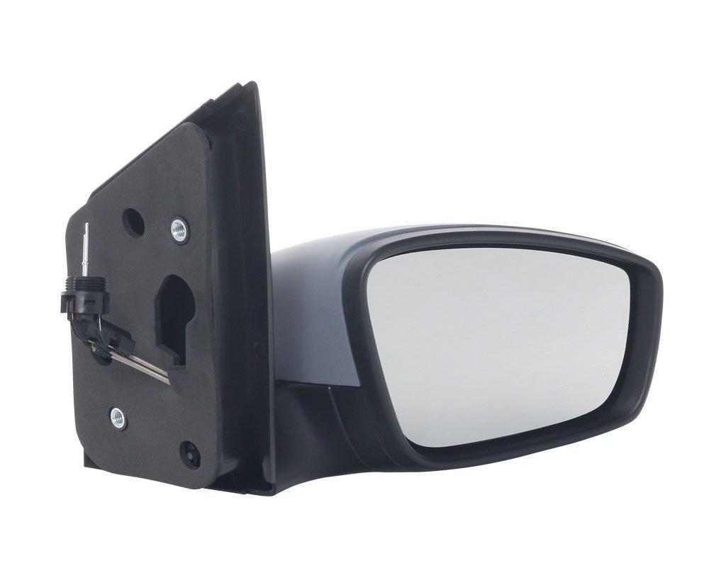Oglinda exterioara Seat Mii, 05.2012-, Skoda Citigo, 05.2012-, Vw Up! (Vw120), 04.12-, partea Dreapta, culoare sticla crom, sticla convexa, cu carcasa grunduita, ajustare manuala