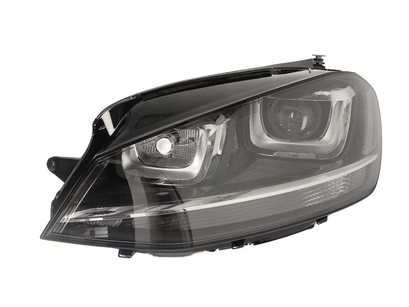 Far Vw Golf 7 (5k), 10.2012-, Electric, tip bec D3S+H7, omologare ECE, cu motor, bi-xenon, fara balast, cu lumini de zi, iluminare in viraje, Stanga