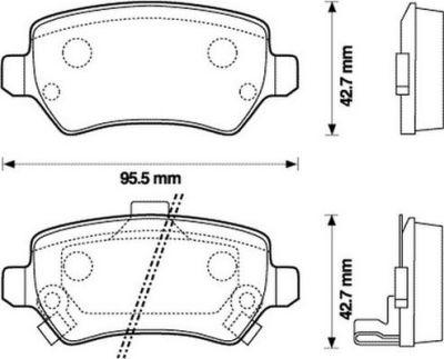 Placute frana SRLine S70-1082 parte montare : Punte spate