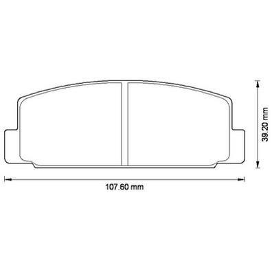 Placute frana Mazda 323 F 6 (Bj), 6 (Gg), 6 (Gh), 6 Hatchback (Gg), 6 Station Wagon (Gy), 6 Combi (Gh), 6 Hatchback (Gh) SRLine parte montare : Punte spate