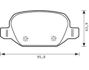 Placute frana Alfa Romeo 147 (937), 156 (932), Gt (937); Fiat Linea (323); Lancia Lybra (839ax) SRLine parte montare : Punte spate