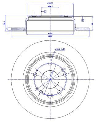 Set disc frana Honda CR-V 2 (RD) SRLine parte montare : Punte spate