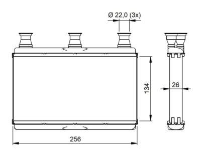 Radiator incalzire habitaclu BMW Seria 5 (E60), Seria 6 (E63, E64); Citroen C3 1 (FC)