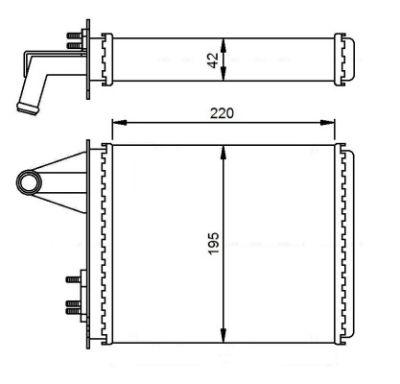 Radiator incalzire habitaclu Fiat Palio (178bx)