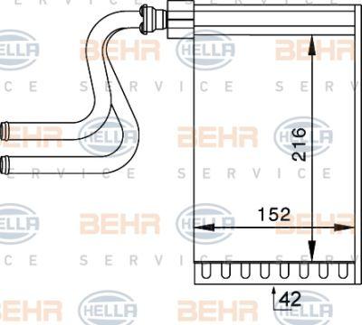 Radiator incalzire habitaclu Ford Mondeo 1 (Gbp)