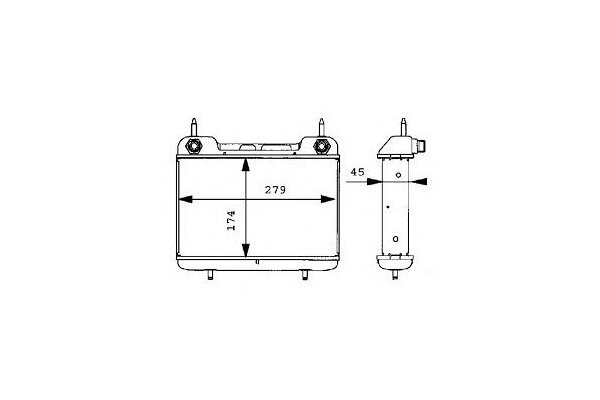 Radiator ulei motor, Termoflot Mercedes Cabriolet (A124), Coupe (C124), Clasa E Combi (S124), Limuzina (W124)