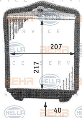 Radiator incalzire habitaclu Mercedes Cabriolet (A124), Coupe (C124), Clasa E (W124), Clasa S (W140), Limuzina (W124)