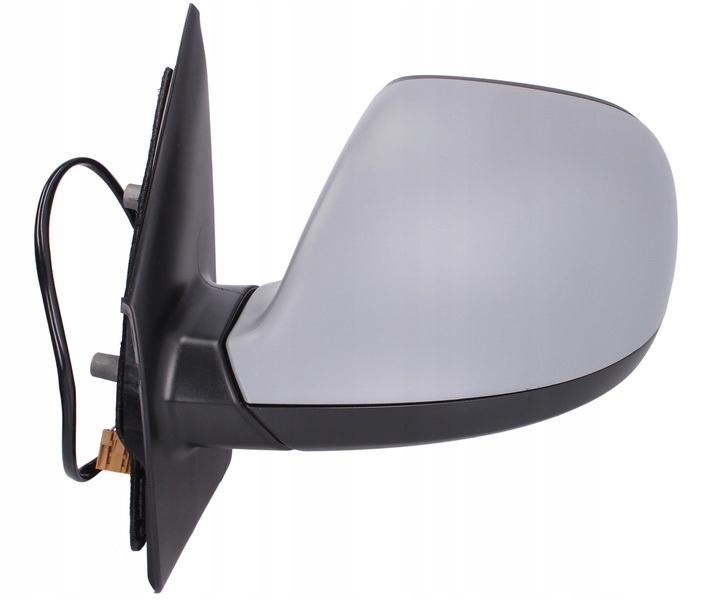 Oglinda exterioara Vw Transporter/Multivan (T5), 10.2009-, Vw Transporter/Multivan (T5), 10.2009-, partea Stanga, culoare sticla crom, sticla asferica, cu carcasa neagra, cu incalzire, ajustare electrica