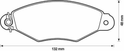 Placute frana Citroen Xsara (N1); Nissan Kubistar (X76); Peugeot 306 (7b, N3, N5); Renault Kangoo (Kc0/1) SRLine parte montare : Punte fata