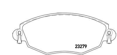 Placute frana Ford Mondeo 3 (B5y); Jaguar X-Type (Cf1), X-Type Estate (Cf1) SRLine parte montare : Punte fata