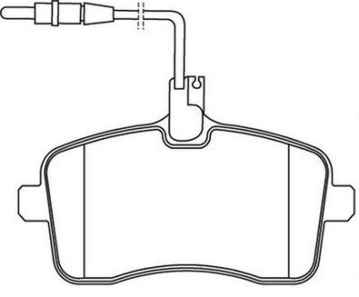 Placute frana Peugeot 407 (6d) SRLine parte montare : Punte fata